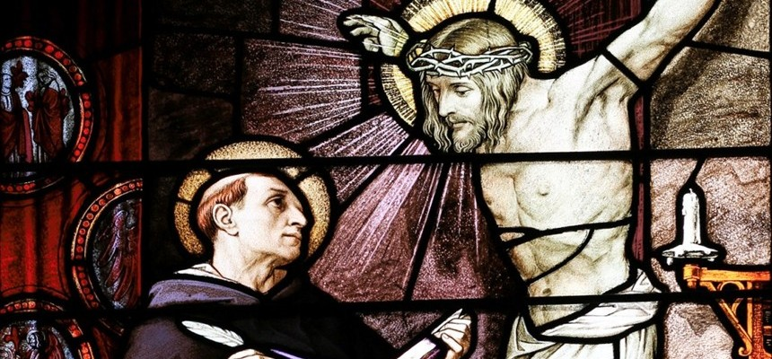 Jesus speaks to Saint Thomas Aquinas from the Crucifix