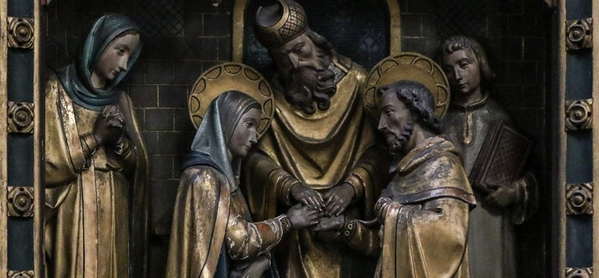 We celebrate the Feast of the Espousal of Joseph and Mary.
