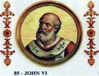 POPE JOHN VI, THE 85TH POPE