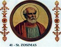 Pope Saint Zosimus, The Rock Which Proved Unstable