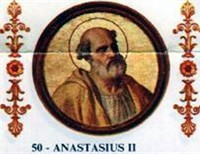 Pope Anastasius II, The Failed Arbitrator