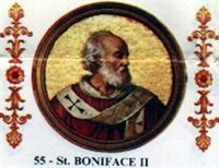 Pope Boniface II, The First Germanic Pope