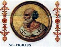 Pope Virgilius, First Byzantinian Pope