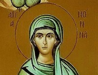 St. Nonna---She Converted her Pagan Husband and raised three Children who became Saints.